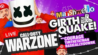 🔴COD Warzone GIRTHQUAKE w/ CourageJD/TimTheTatman/BasicallyIDoWrk - Mello Gaming