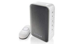 Honeywell 3 Series Portable Wireless Doorbell with Strobe Light and Push Button (RDWL313A)