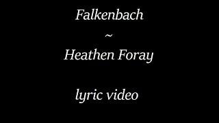Falkenbach - Heathen Foray (lyrics)