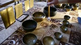 Поющие чаши. Тибетские чаши. Космическое Эхо. Медитация. Звукотерапия. Singing bowls sound therapy