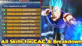 How to UNLOCK all DLC 8 SKILLS for CAC! Attack Breakdown! - Dragon Ball Xenoverse 2