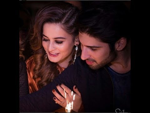 Some Beautiful Moments of Love Birds Aiman Khan and Muneeb Butt