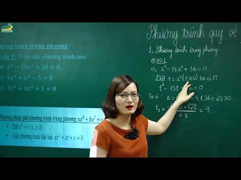 Đại 9 - Phương trình quy về PT bậc 2