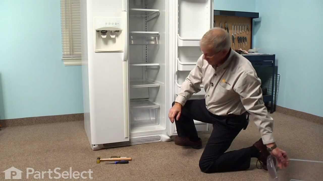 Replacing your Frigidaire Refrigerator Crisper Cover Support - Front