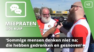 Feyenoord-fan: 'Sommige mensen denken niet na; die hebben gedronken en gesnoven'