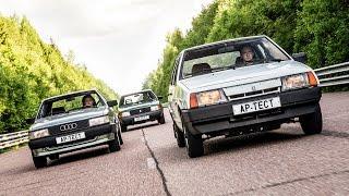 Тридцать лет спустя: ВАЗ-2109, АЗЛК-2141 и Audi 80