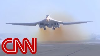 Russian bomber touches down on America