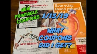 1/13/19 WHAT COUPONS DID I GET? | NEW PRINTABLE COUPONS!