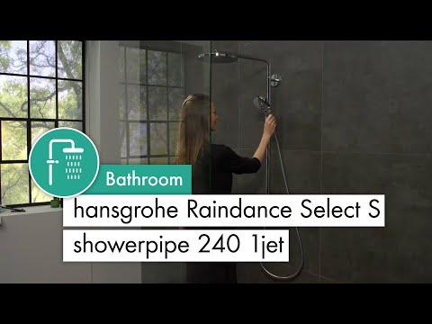 hansgrohe Raindance Select S Showerpipe 240 1 jet with PowderRain