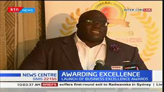 The launch of the business executive excellence awards taking place in Nairobi