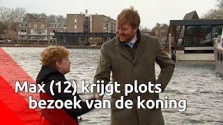 Max van Zon (12) verrast door koning Willem-Alexander