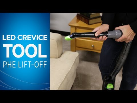 How to use the LED Lighted Crevice Tool With your Pet Hair Eraser® Lift-Off® Video
