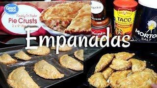 Cómo Hacer EMPANADAS  FÁCIL Y RÁPIDO // Empanadas  Con PIE CRUSTS //How To Make Easy Empanadas.