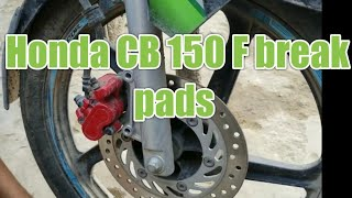 Honda CB 150 F break Pads! How to change
