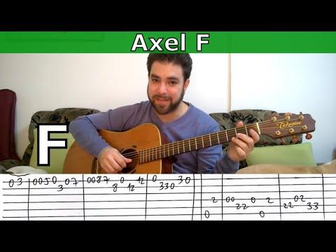 Fingerstyle Tutorial: Axel F (aka Crazy Frog) - Guitar Lesson w/ TAB