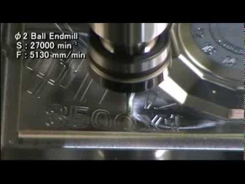 S500X1 high-speed spindle Machine example (Aluminium)