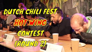 Hot Wing eating contest (Round 2) - Dutch ChiliFest