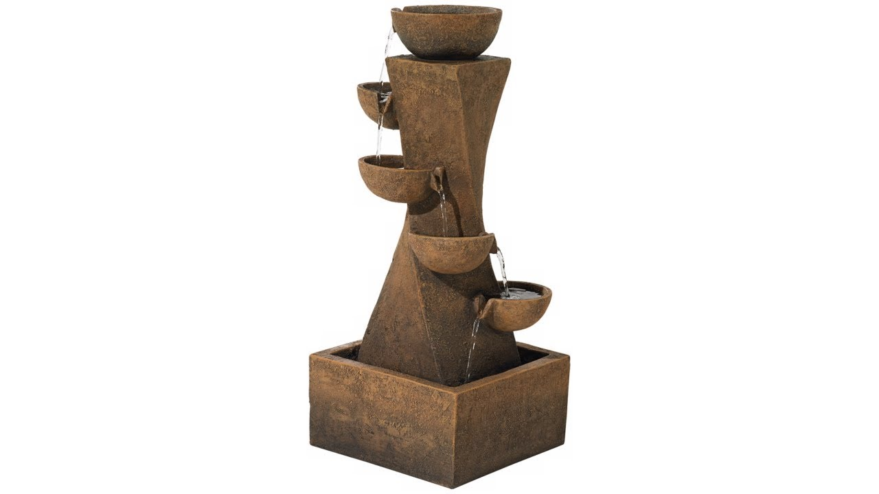 "Cascading Bowls 27 1/2"" High Modern Fountain with"
