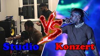 Studio vs Konzert Amerikanische Rapper