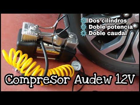 COMPRESOR AUDEW 12V DE DOS CILINDROS ¡¡DOBLE POTENCIA!!