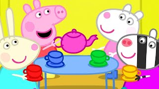 Peppa Pig Full Episodes | Dens - the Tea Party | Cartoons for Children