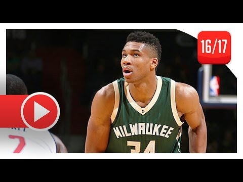Giannis Antetokounmpo Full Highlights vs Wizards (2016.12.10) – 28 Pts 13 Reb 7 Ast