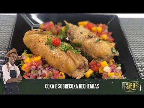 Receita de coxa e sobrecoxa recheadas com o chef Rivandro [Sabor da Gente exibido em 19/04/2021]