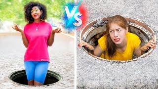 Problemas de Chicas con Piernas Largas y Piernas Cortas / Problemas de Gente Alta y Baja