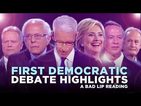 """""""FIRST DEMOCRATIC DEBATE HIGHLIGHTS: 2015"""" —- A Bad Lip Reading of the First Democratic Debate"""