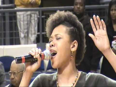Jamela Bullock sings Both National Anthems at Freedom Classic January 18th  2009