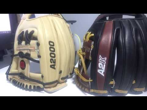 1 minute glove review: Wilson A2000 Vs A2K