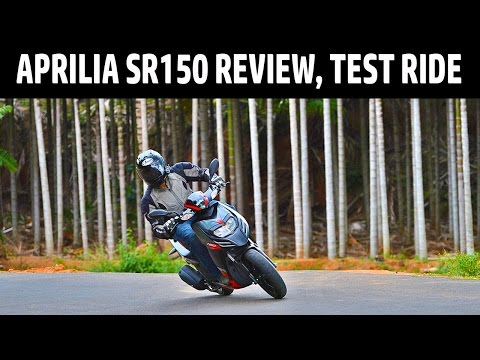 Aprilia SR150 Review | Test Ride | QuikrCars