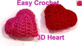 How to 3D crochet heart for beginners (Easy Crochet)
