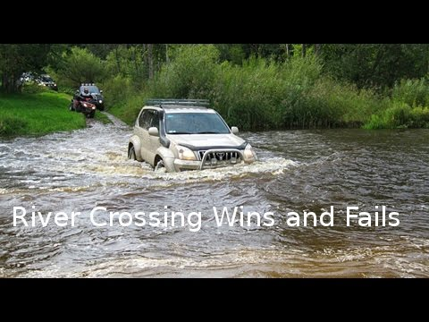 Compilation Off Road Cars Crossing River And Stuck In Water / Fail And Win
