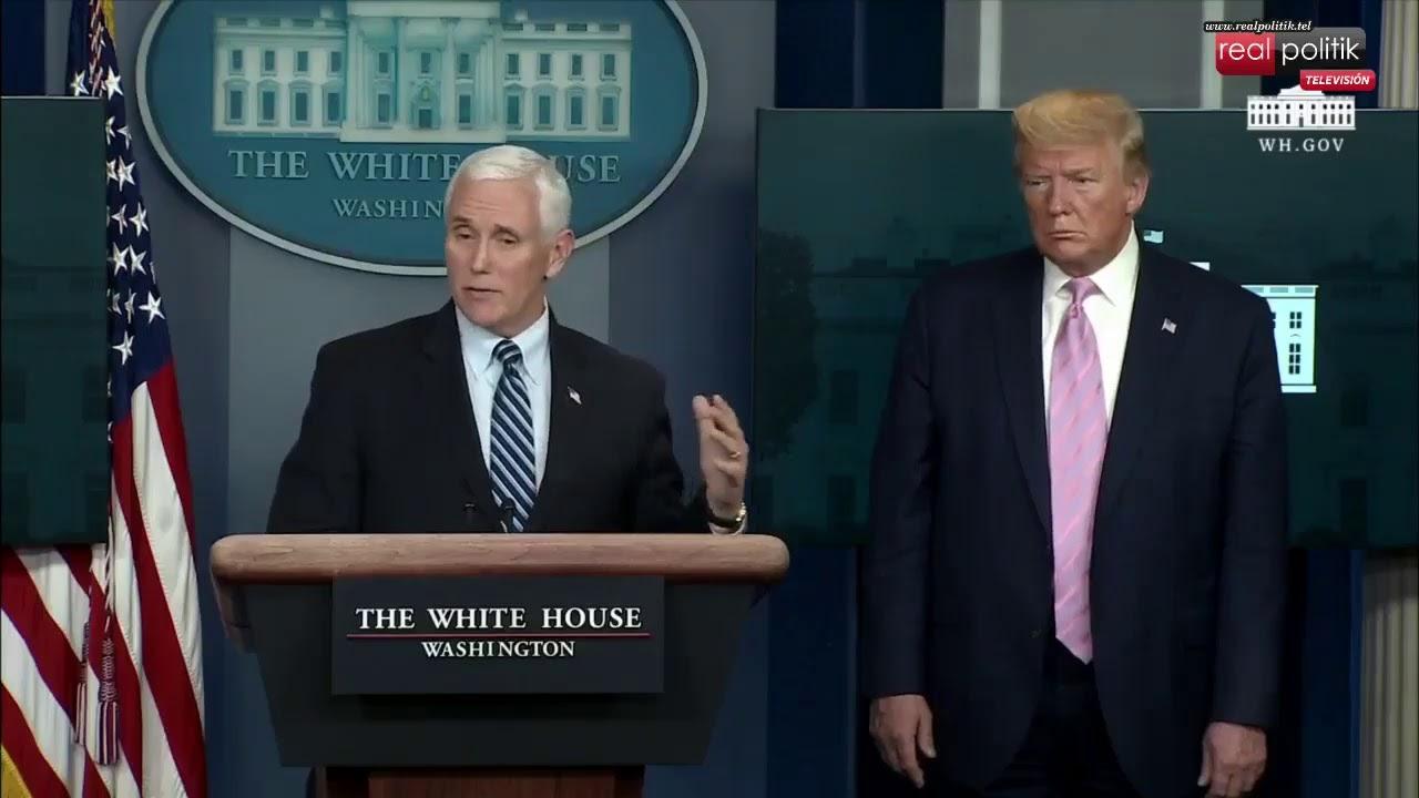 Estados Unidos: Conferencia de prensa de Donald Trump por coronavirus
