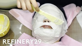 I Got A Glass Skin Facial In South Korea | Beauty With Mi | Refinery29