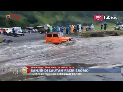 Hujan Deras Sebabkan Banjir 20-30 Centimeter di Hamparan Pasir Bromo - BIP 31/01