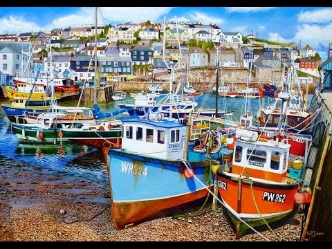 Thumbnail of Mevagissey Harbour at Low Tide