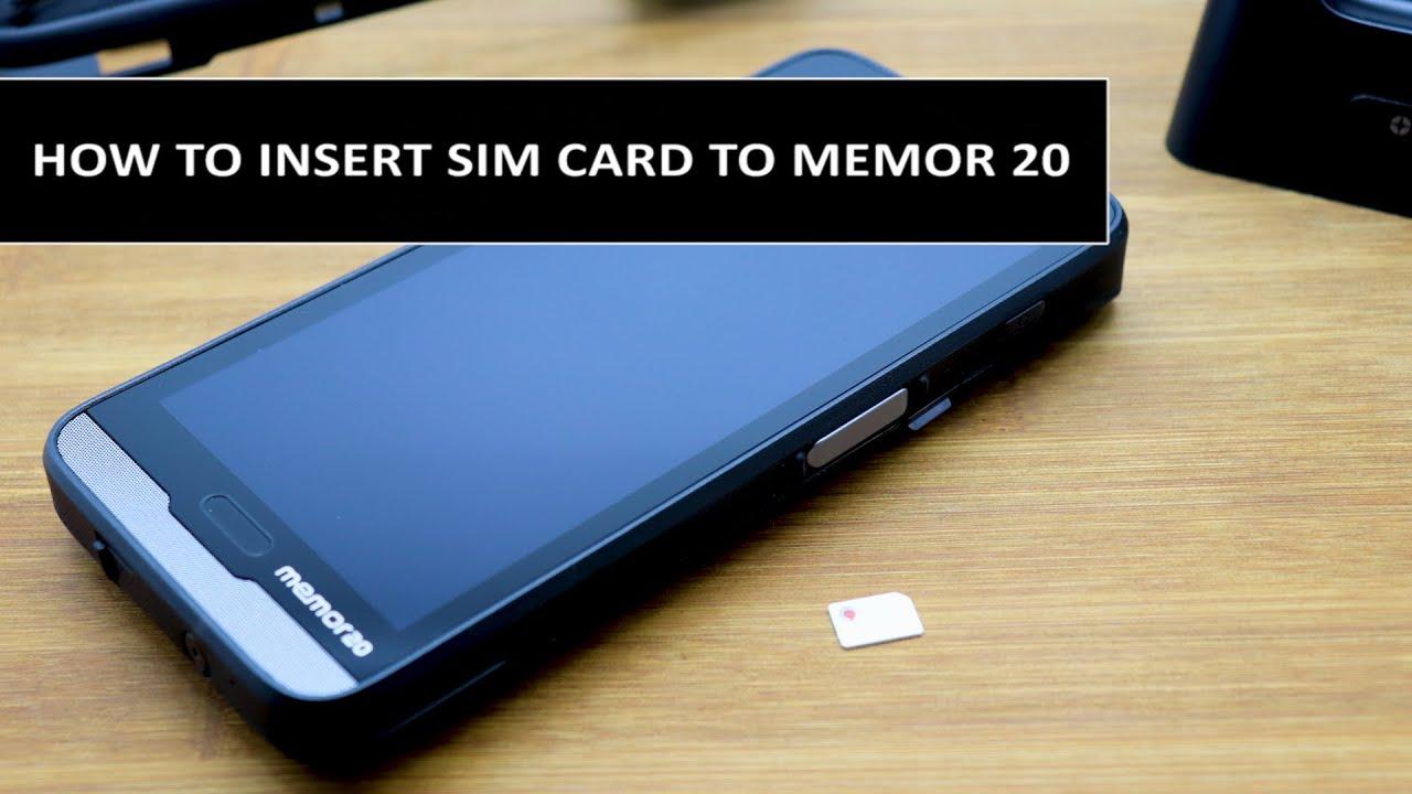 How to insert SIM card to Datalogic Memor 20