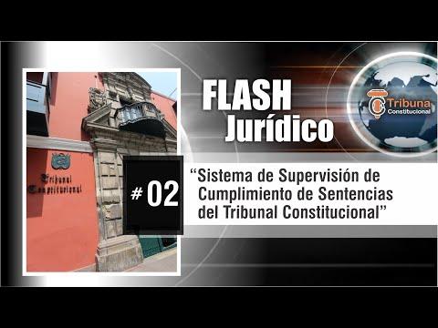 Flash Jurídico #2 -SISTEMA DE SUPERVISIÓN DE CUMPLIMIENTO DE SENTENCIAS DEL TC -Guido Aguila Grados