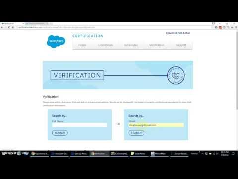 How to Download Salesforce University Certification Badges ...