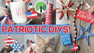 8 NEW Dollar Tree Patriotic DIYs 🇺🇸 | Memorial Day & 4th of July Decor for Tiered Trays + MORE!