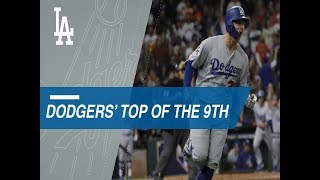 Dodgers erupt to take the lead in the 9th of Game 4 of the World Series