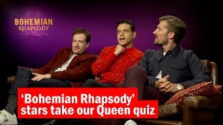 The stars of 'Bohemian Rhapsody' take our Queen quiz