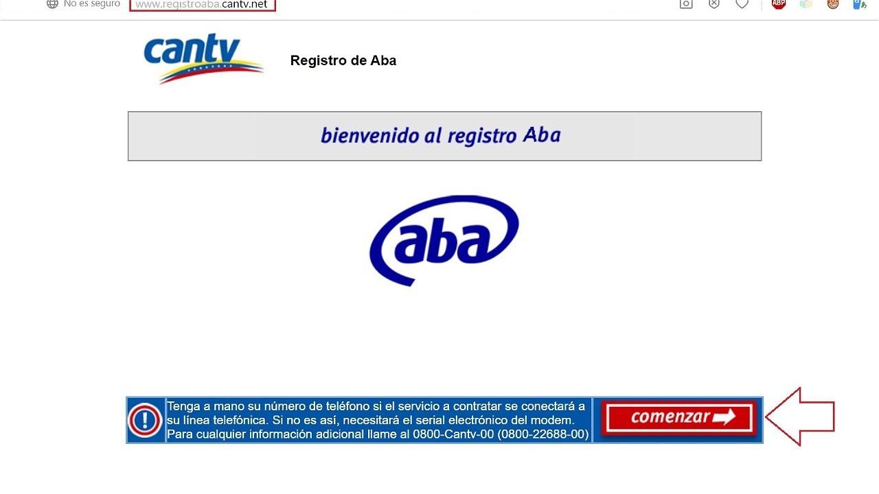Registro Aba Cantv net