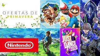 """Nintendo Promoción """"Ofertas de primavera"""" 2020 - ¡Descuentos de hasta el 80 %!  anuncio"""