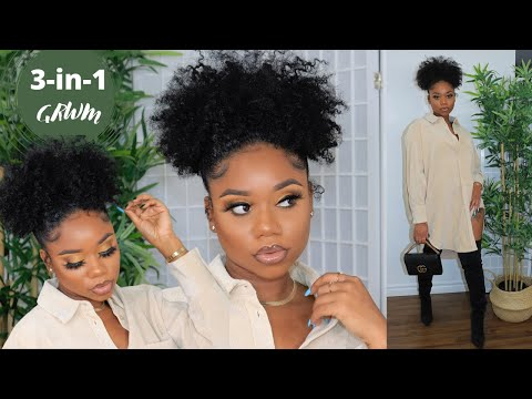 3-in-1 GRWM: NATURAL HAIRSTYLE, SOFT GLAM MAKEUP, AND OUTFIT (Zara & Fashion Nova) | Chev B.