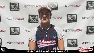 2023 Abi Pikas Speedy Slapper and Outfield Softball Player Skills Video - AASA Pikas