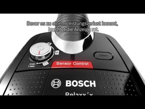 Bosch Relaxx'x, der beutellose Bodenstaubsauger mit SmartSensor Control