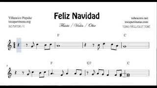 I Wanna Wish You a Merry Christmas Easy Sheet Music for Violin Flute and Oboe Feliz Navidad